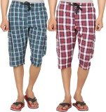 Joven Checkered Men's Three Fourths