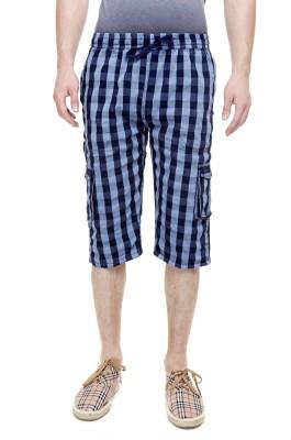 Trends Checkered Men's Three Fourths
