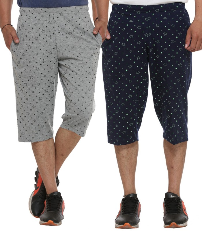 Vimal Printed Men's Three Fourths