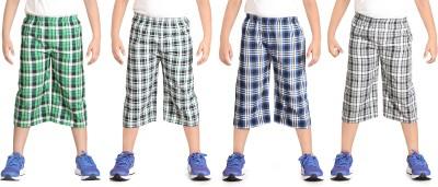 Dongli Checkered Boy's Three Fourths