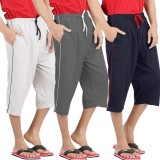 WellFitLook Solid Men's Three Fourths