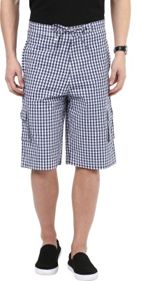 Hypernation Checkered Mens Three Fourths