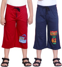 Dongli Three Fourth For Boys(Red Pack of 2)