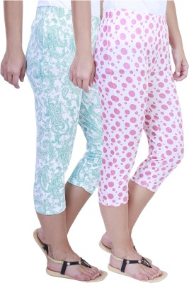 Eshelle Fashion Women,s Green, White, Pink Capri
