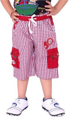 OKS Junior Checkered Boy's Three Fourths