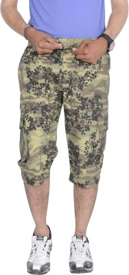 Mountain Colours Floral Print Men's Three Fourths