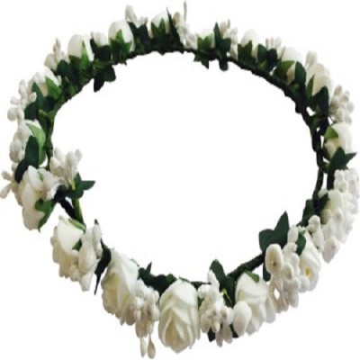 M V Traders Crown & Tiara(White, Pack of 1)