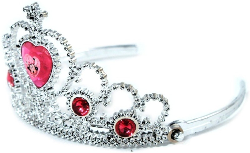 Disney Tiara(Silver, Red, Pack of 1)