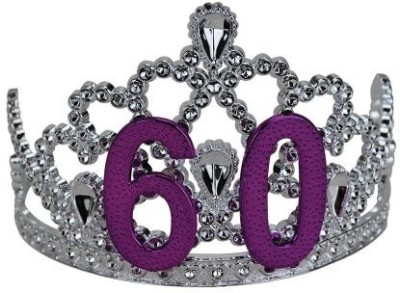 BigMouth Inc Tiara(Silver, Purple, Pack of 1)