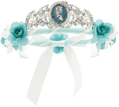 Disney Tiara(Silver, Blue, Pack of 1)