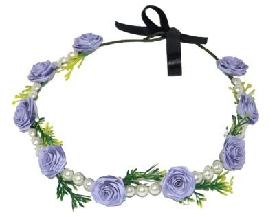 Muren Pearls & 7 Flowers-pur Crown & Tiara