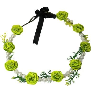 Muren Pearls & 7 Flowers-lg Crown & Tiara