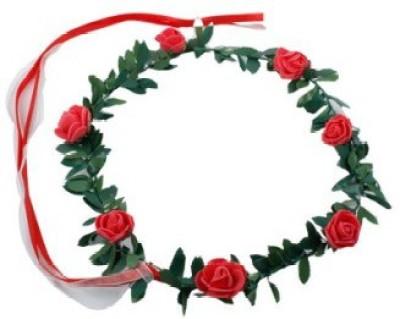 Smartcraft Floral Rose-Red Tiara