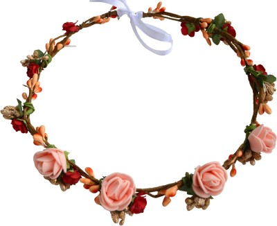 Paperiva Crown & Tiara(Orange, Red, Beige, Pack of 1)