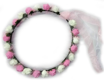 Ziggle Princess Tiara(White, Pink, Pack of 1)