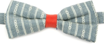 Take A Bow Woven Checkered Overlap Bow Tie Striped Men's Tie