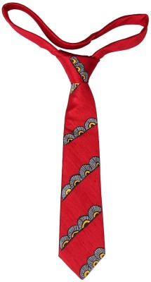 EthnicShack Rangoli Pattern Hand Painted Neck Self Design Men's Tie