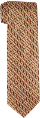 DnH Dnh Men,S Printed Normal Necktie Yellow Brown B314 Printed Men's Tie