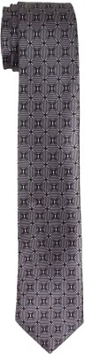 DnH Dnh Men,S Printed Normal Necktie Grey B330 Printed Men's Tie