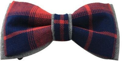 Moods And Hues Redandgrey Checkered Men's Tie