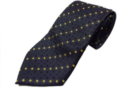 Blacksmithh Black Formal Directors Self Design Men's Tie