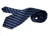 Blue Shine Striped Men's Tie