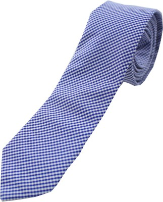 Moods And Hues Bluecheck Checkered Men's Tie