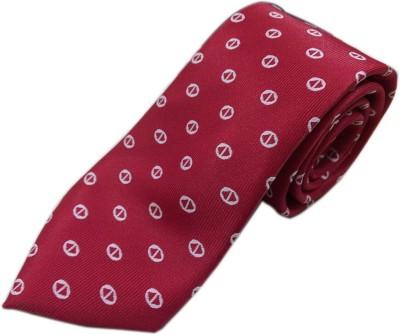 Blacksmithh Premium Jacquard Red Formal Woven Self Design Men's Tie