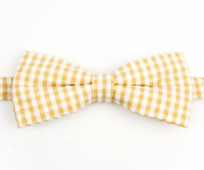 Take A Bow Vintage Checkered Overlap Bow Tie Checkered Men's Tie
