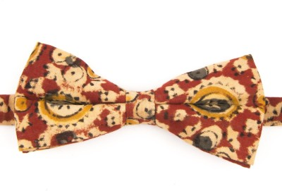 Take A Bow Kalamkari Abstract Red Overlap Bow Tie Printed Men's Tie