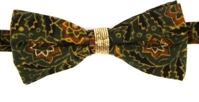 Take A Bow Ajrak Embroidered Overlap Bow Tie Embroidered Men's Tie