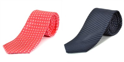 Paranoid Polka Print, Striped Men's Tie