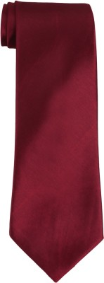 DnH Dnh Men,S Plain Broad Necktie Cherry Red B308 Solid Men's Tie