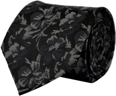 Dennison Self Design, Printed, Floral Print Men's Tie