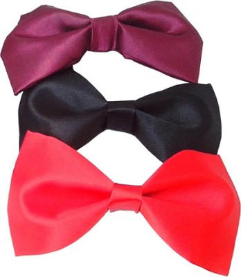 Wholesomedeal Maroon Black And Red(008) Solid Men's Tie