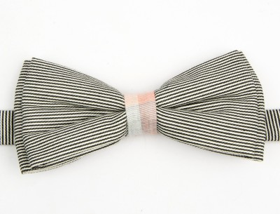 Take A Bow Wave Striped Overlap Bow Tie Striped Men's Tie