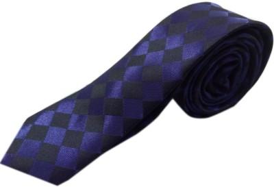 Blacksmithh Slim Purple Clubwear Checkered Men's Tie