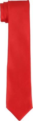 DnH Dnh Men,S Plain Necktie Red B339 Solid Men's Tie