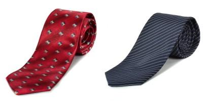 Paranoid Geometric Print, Striped Men's Tie