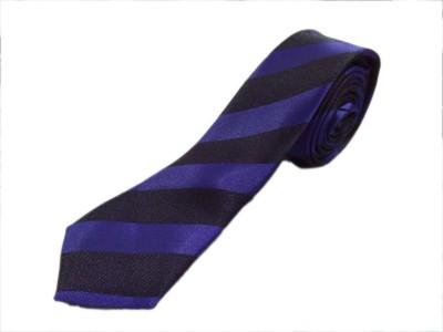 Blacksmithh Dark Purple Clubwear Striped Men's Tie