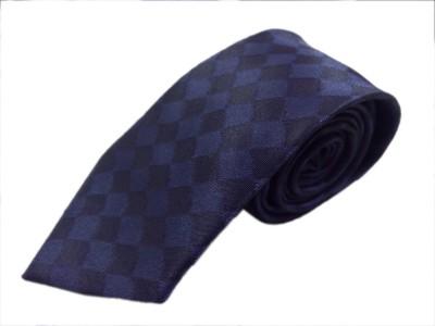 Blacksmithh Navy Blue Clubwear Checkered Men's Tie