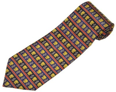Sakshi International Premium Italian Silk Collection Animal Print Men's Tie