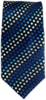 The Tie Hub Houneycomb Self Design Men's Tie