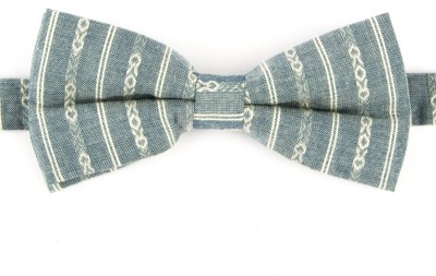 Take A Bow Woven Striped Overlap Bow Tie Striped Men's Tie