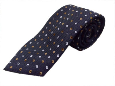 Blacksmithh Black Formal Jacquard Woven Self Design Men's Tie