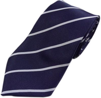 Blacksmithh Affordable Navy Blue Formal Striped Men's Tie