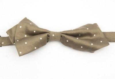 Take A Bow Polka Grey Diamond Point Bow Tie Polka Print Men's Tie