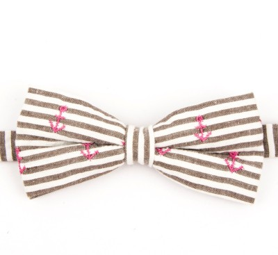 Take A Bow Anchor Striped Overlap Bow Tie Striped Men's Tie