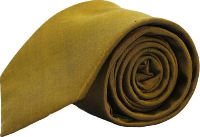 Pinellii Pure Silk Tie Yellow-3 Solid Men's Tie