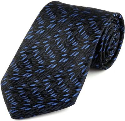 V Brown Solid Tie